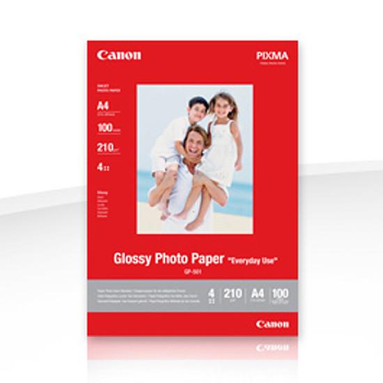 Papier imprimante Canon Papier photo glacé A4 - GP-501