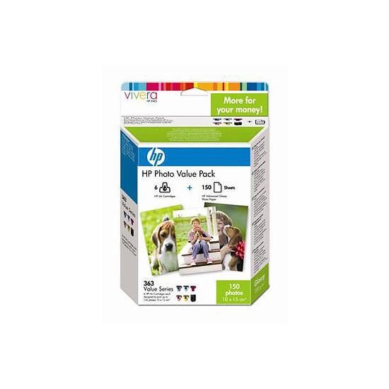 Cartouche imprimante HP Value pack n°363 (Q7966EE) - Cartouche d'encre