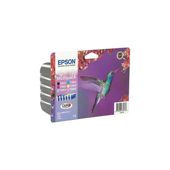 Cartouche imprimante Epson T0807 Multipack 6 cartouches - C13T08074010