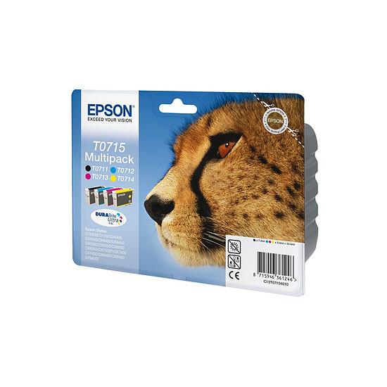 Cartouche d'encre Epson T0715 Multipack 4 cartouches - C13T07154010