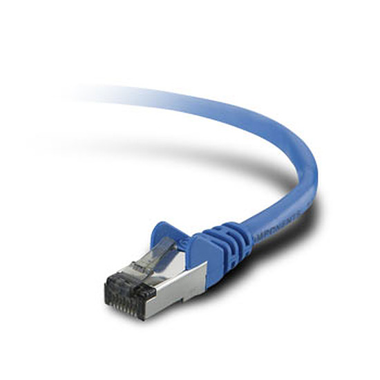 Câble RJ45 Belkin Câble Ethernet RJ45 Cat 6 STP Bleu - Snagless 5 m