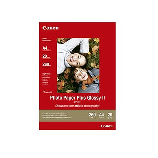 Papier imprimante Canon Papier plus glacé A4 - PP-201