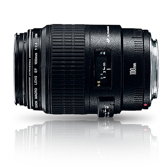Objectif pour appareil photo Canon EF 100mm f/2.8 USM Macro
