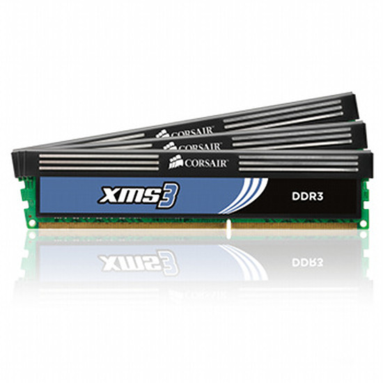 Mémoire Corsair XMS3 3 x 2 Go DDR3 1600 MHz CAS 9