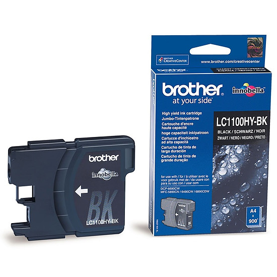 Cartouche d'encre Brother LC1100HYBK haute capacité
