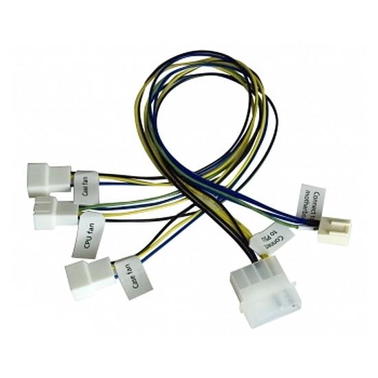 Alimentation Akasa Câble Molex / 3 ventilateurs PWM - 30 cm