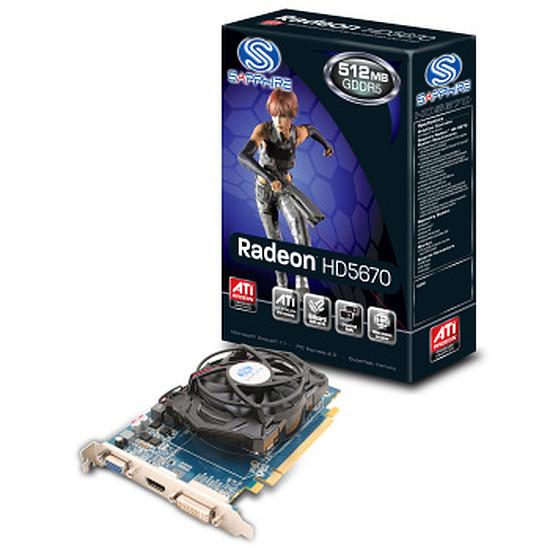 Carte graphique Sapphire Radeon™ HD 5670 512 Mo VGA