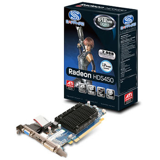 Carte graphique Sapphire Radeon™ HD 5450 512 Mo DDR3 HM Low-Profile