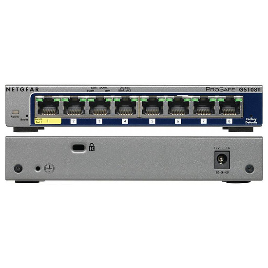 Switch et Commutateur Netgear GS108T v2 - Autre vue