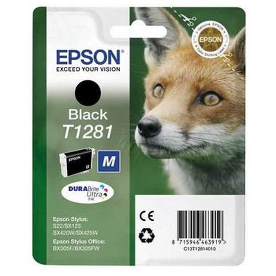 Cartouche imprimante Epson T1281 Noir - C13T12814010
