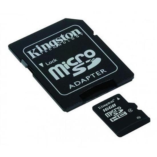 Carte mémoire Kingston Micro SDHC 16 Go Class 4 + adaptateur SD