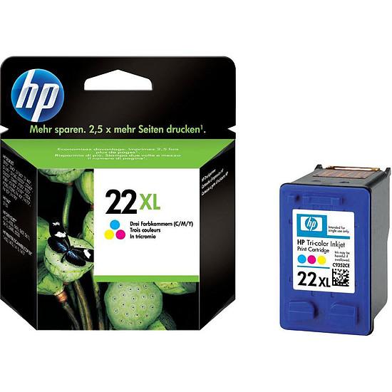 Cartouche imprimante HP Cartouche d'encre n°22 XL (C9352CE) - 3 Couleurs