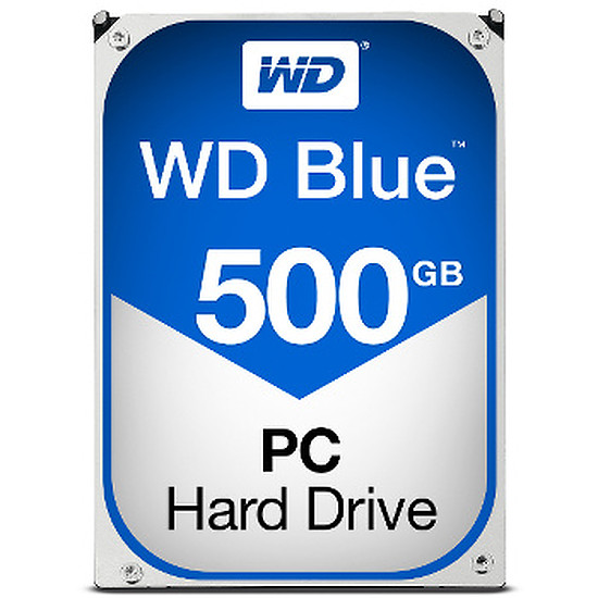 "Disque dur interne Western Digital (WD) Blue 3,5"" - SATA III 6 Gb/s - 500 Go (Caviar)"