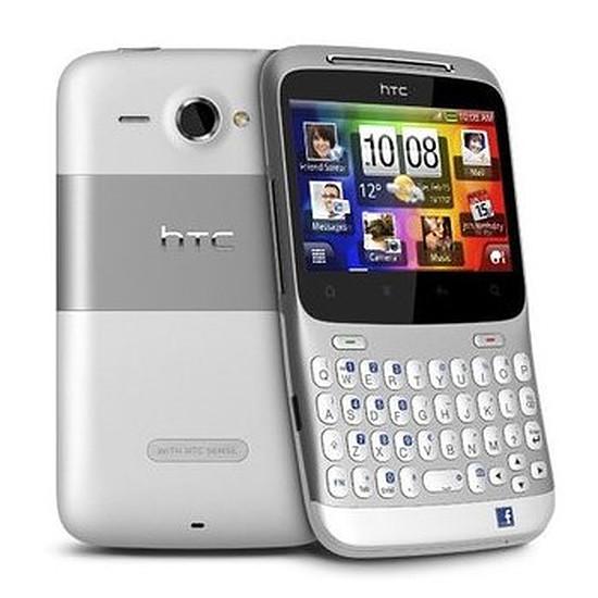 Smartphone et téléphone mobile HTC Chacha (argent)