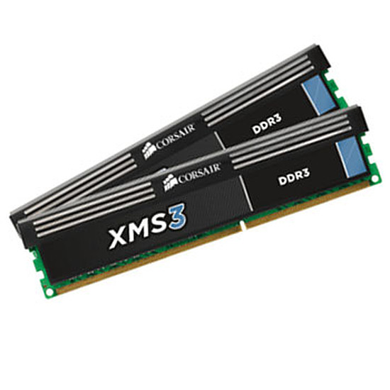 Mémoire Corsair XMS3 2 x 2 Go DDR3 PC16000 CAS 9