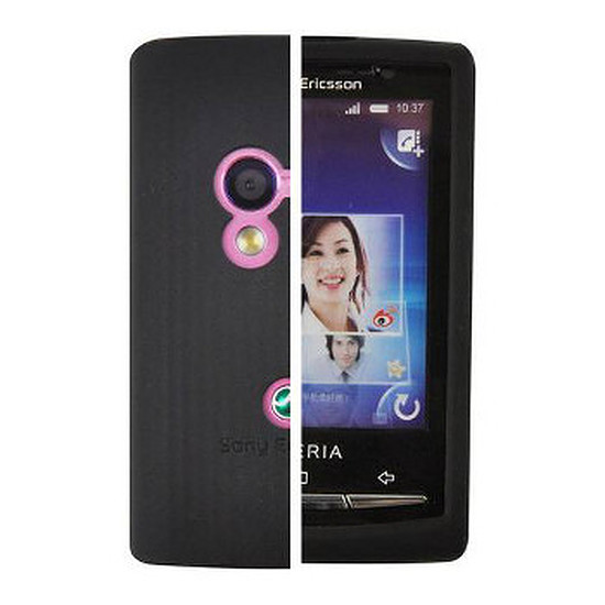 Coque et housse Muvit Housse silicone noire pour Sony Ericsson X10 Mini