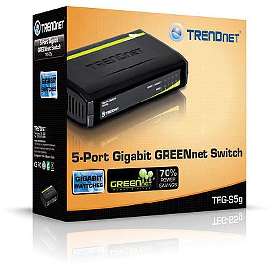Switch et Commutateur TrendNet TEG-S5G - Switch 5 ports Gigabit - Autre vue