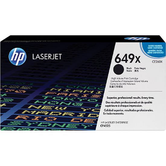 Toner imprimante HP 649X - CE260X Noir Haute capacité