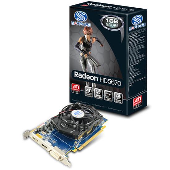 Carte graphique Sapphire Radeon™ HD 5670 1Go