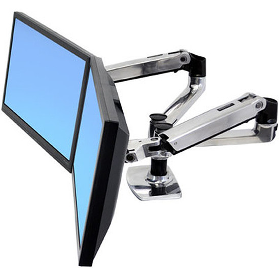 Bras & support écran PC Ergotron Bras double écrans juxtaposés LX 45-245-026 - Autre vue