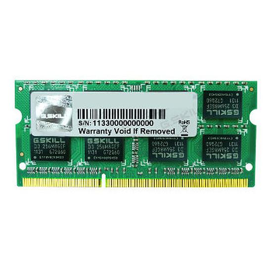 Mémoire G.Skill SO-DIMM DDR3 4 Go 1600 MHz SQ CAS 9