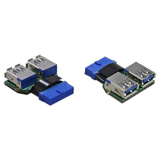 USB Lian Li Adaptateur UC-01 - 20 broches / 2 ports USB 3.0