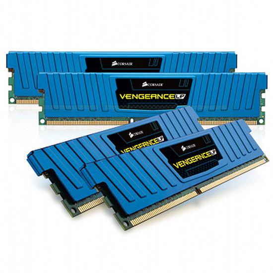 Mémoire Corsair VENGEANCE BLUE 4 x 4 Go DDR3 1600 Mhz CAS 9 LP