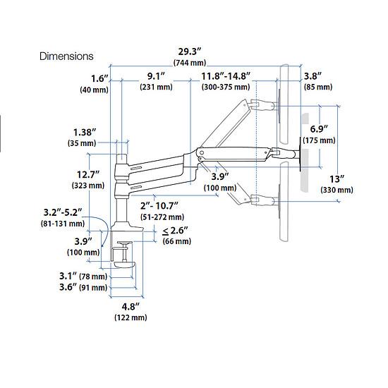 Bras & support écran PC Ergotron Bras double écrans LX 45-248-026 - Autre vue