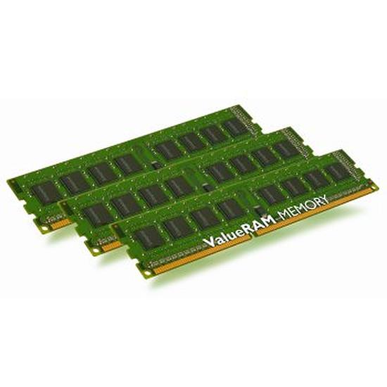 Mémoire Kingston ValueRAM DDR3 3 x 4 Go PC10600 CAS 9 ECC Reg