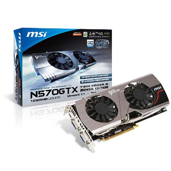 Carte graphique MSI N570GTX-M2D12D5 (GeForce GTX 570 1,25 Go)