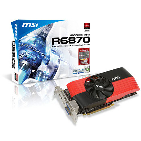 Carte graphique MSI Radeon HD 6870 OC Edition 1Go - R6870-2PM2D1GD5/OC