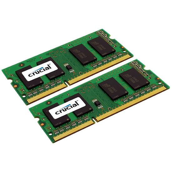 Mémoire Crucial 8 Go (2 x 4 Go) DDR3L 1600 MHz CL11 DR SO-DIMM - Autre vue