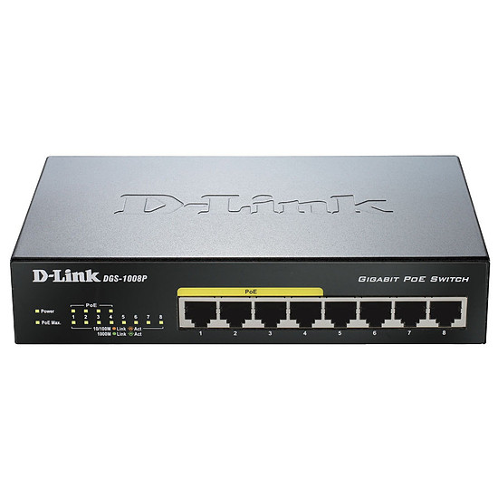 Switch et Commutateur D-Link DGS-1008P