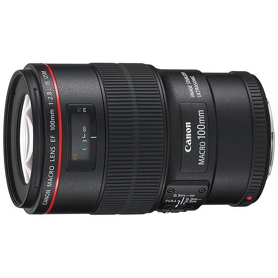 Objectif pour appareil photo Canon EF 100mm f/2.8L IS USM Macro