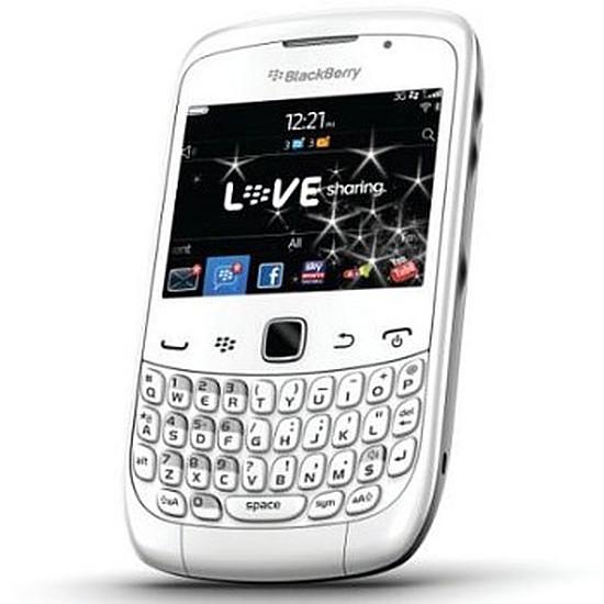 Smartphone et téléphone mobile BlackBerry BlackBerry Curve 3G 9300 (blanc)