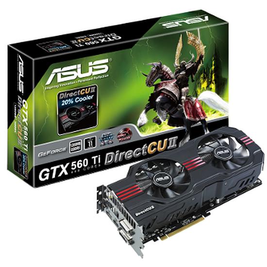 Carte graphique Asus GeForce GTX560 Ti Direct CUII- 1,25 Go - 448 Cores