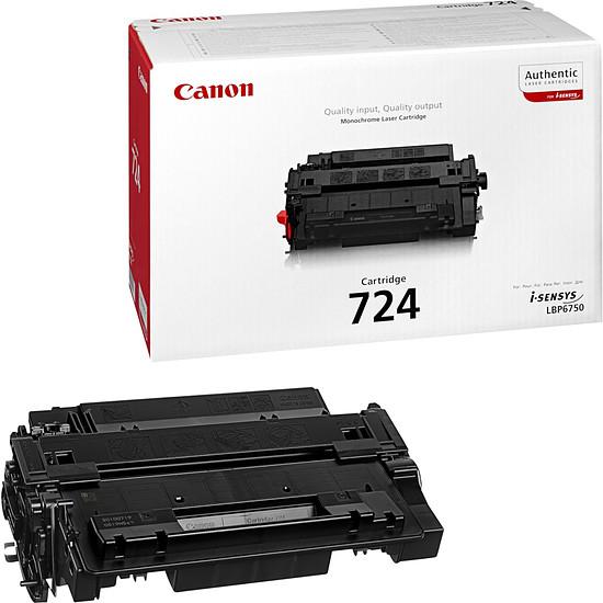 Toner imprimante Canon 724H Noir Haute capacité
