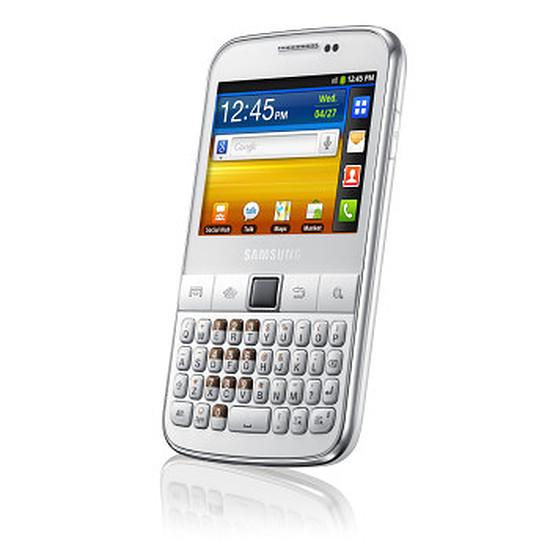 Smartphone et téléphone mobile Samsung Galaxy Y Pro (B5510) blanc et argent