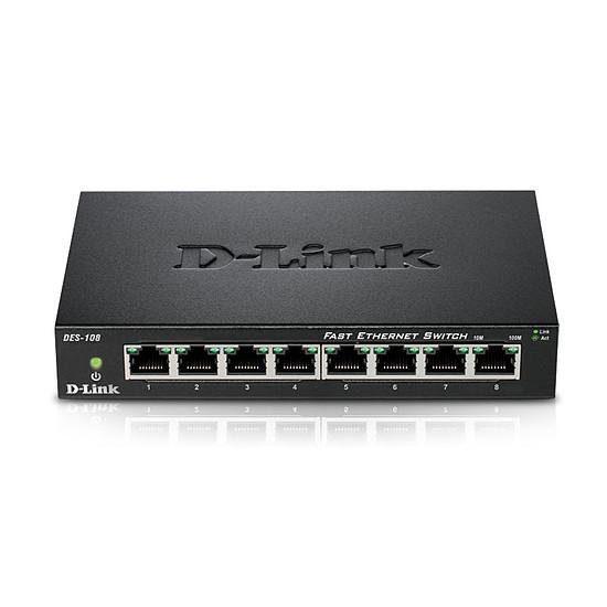 Switch et Commutateur D-Link DES-108 - Autre vue