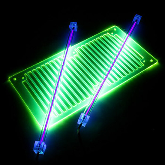 Filtre anti-poussière Revoltec Kit 2 Néons PC - UV 30 cm