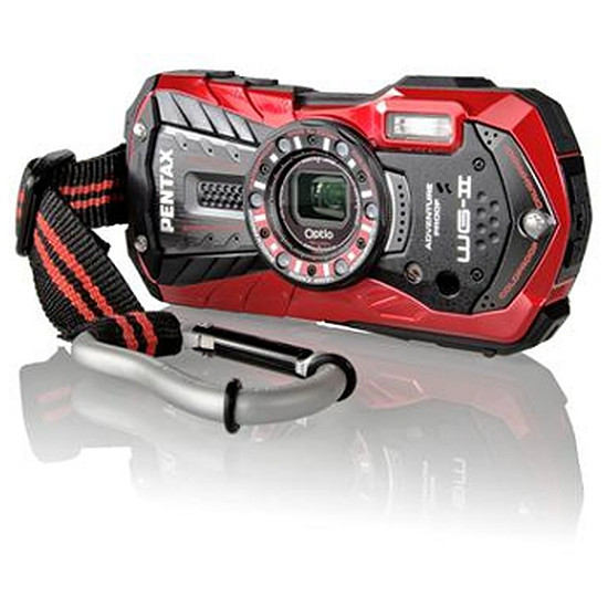 Appareil photo compact ou bridge Pentax OPTIO WG-2 Rouge