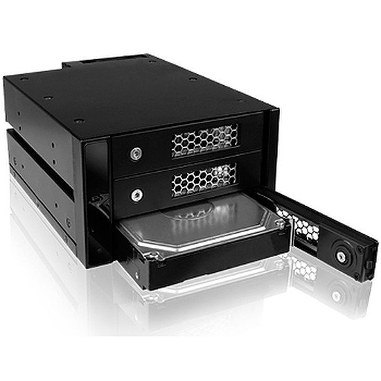 "Rack disque dur interne Icy Box Adaptateur baie 5,25"" disques durs - IB-543SSK"