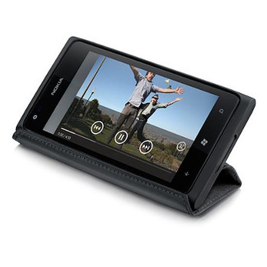 Coque et housse Nokia Etui à rabat en cuir CP-588 pour Lumia 900 (noir)