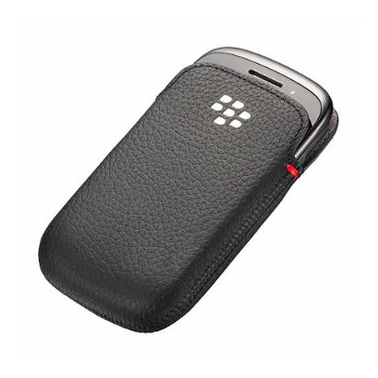 Coque et housse BlackBerry Etui cuir écologique noir - BlackBerry Curve 9320