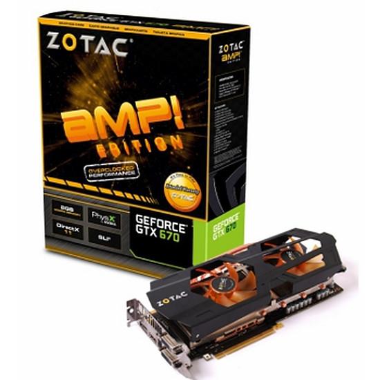 Carte graphique Zotac GeForce GTX 670 - 2 Go - AMP Edition