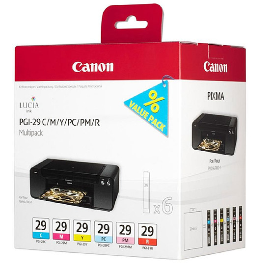 Cartouche imprimante Canon Multi Pack PGI-29 C/M/Y/PC/PM/R