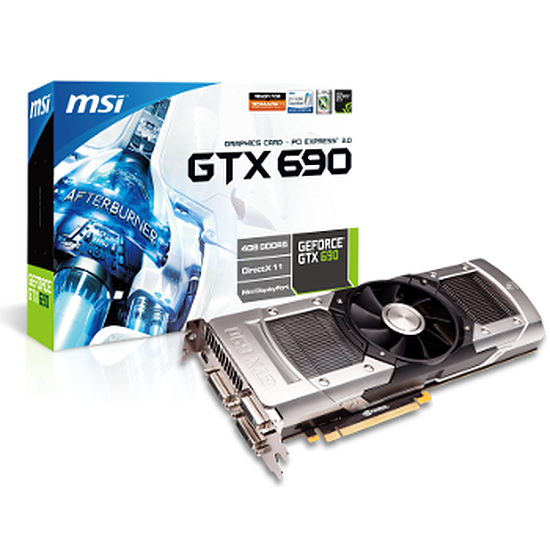 Carte graphique MSI GeForce GTX 690 - 4 Go (N690GTX-P3D4GD5)