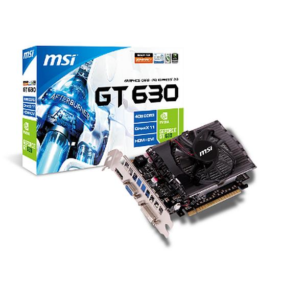 Carte graphique MSI GeForce GT 630 - 4 Go (N630GT-MD4GD3)