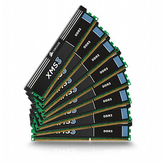 Mémoire Corsair XMS3 8 x 8 Go DDR3 1333 MHz CAS 9
