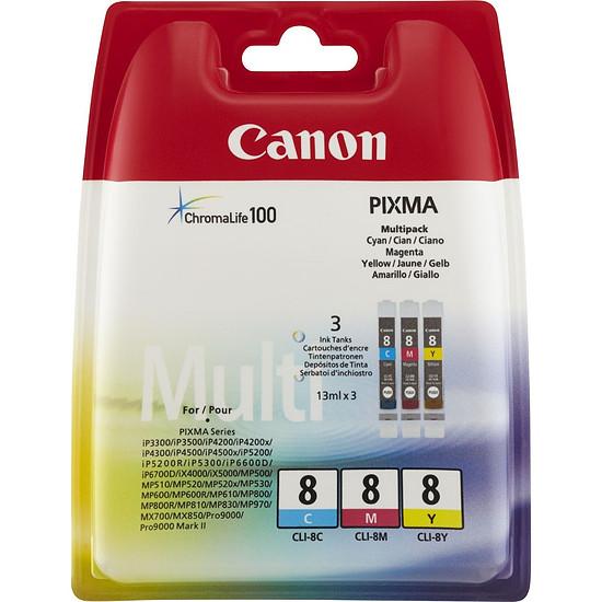 Cartouche imprimante Canon Multi Pack CLI-8 C/M/Y